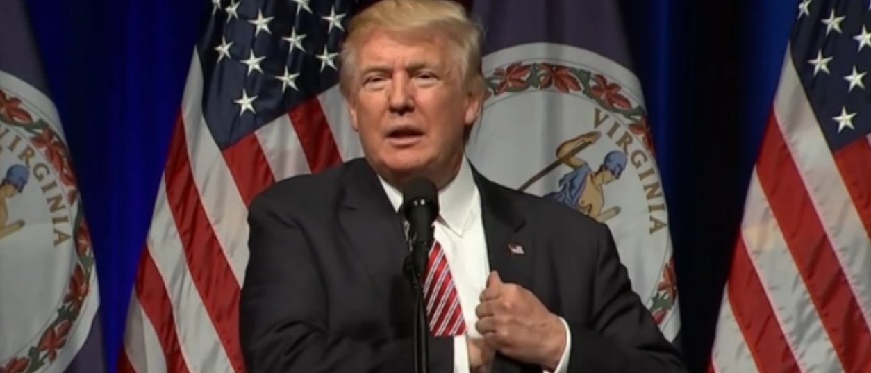 Donald Trump speaks to Loudon County Republicans in August (You Tube Screen Capture DONALD TRUMP SPEECHES & RALLIES 2016)