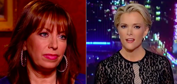 Paula Jones and Megyn Kelly (Screen captures from YouTube)