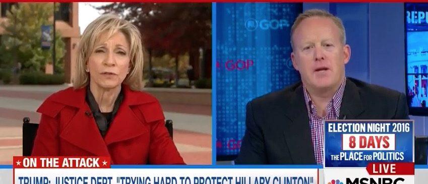 Andrea Mitchell, Sean Spicer (MSNBC)