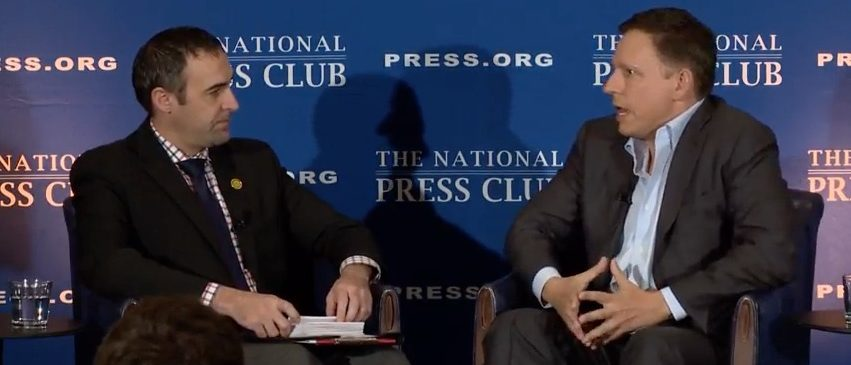 Peter Thiel speaks at the National Press Club (YouTube)