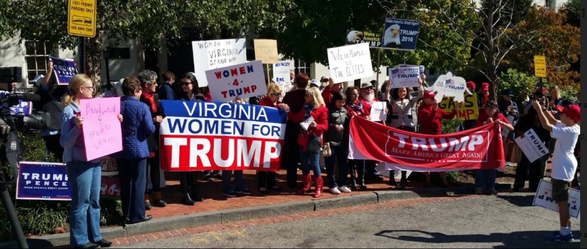 Virginia Women For Trump Organized the protest Phillip Stucky