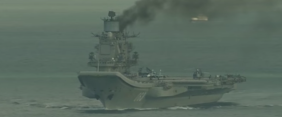 Russia's Decrepit Flagship Isn't On Fire, But It Sure Looks Like It Is [VIDEO]