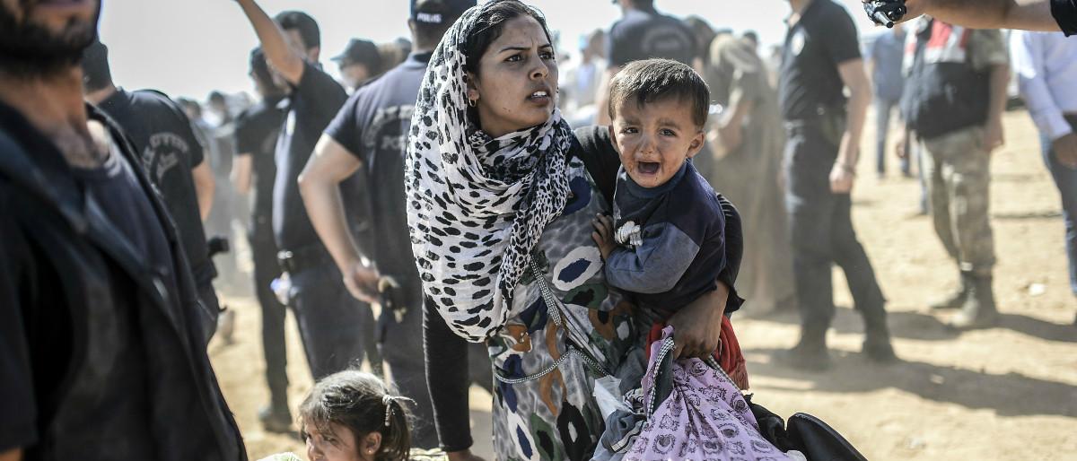 Syrian refugees AFP/Getty Images/BULENT KILIC