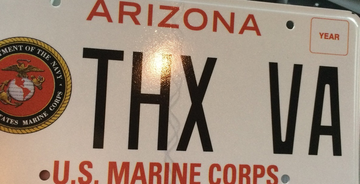 Thanks VA License Plate / Provided by Brandon Coleman to TheDCNF