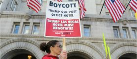Union Protest Outside Trump Hotel (Ted Goodman/DCNF)