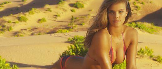 Nina Agdal. (Photo credit: Screenshot/Youtube Sports Illustrated Swimsuit)