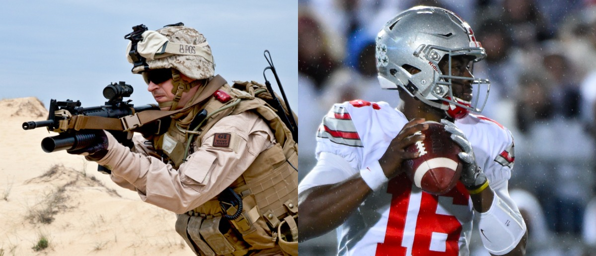 SpecOps Photo: Getmilitaryphotos/Shutterstock Buckeyes Photo: Rich Barnes-USA TODAY Sports/Reuters