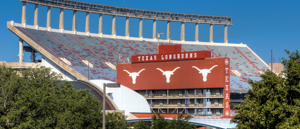 AUSTIN,TX/USA - NOVEMBER 14: Darrell K Royal Texas Memorial Stadium at campus of University of Texas. November 14, 2013.