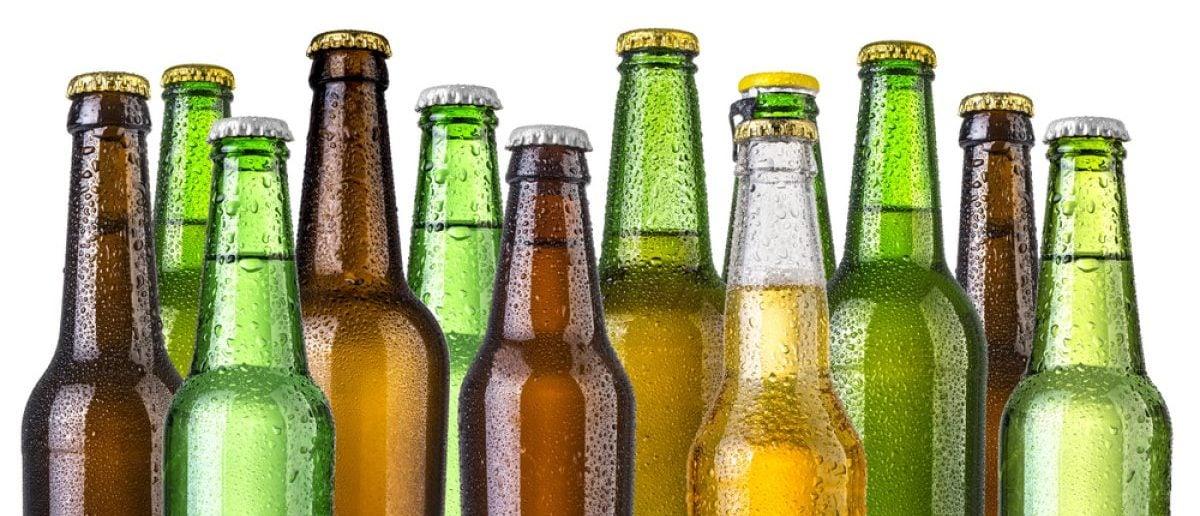 Frosty bottles of beer [Shutterstock - AlenKadr]