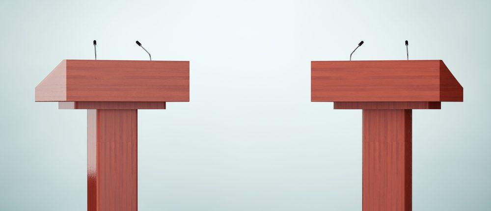 Debate podium