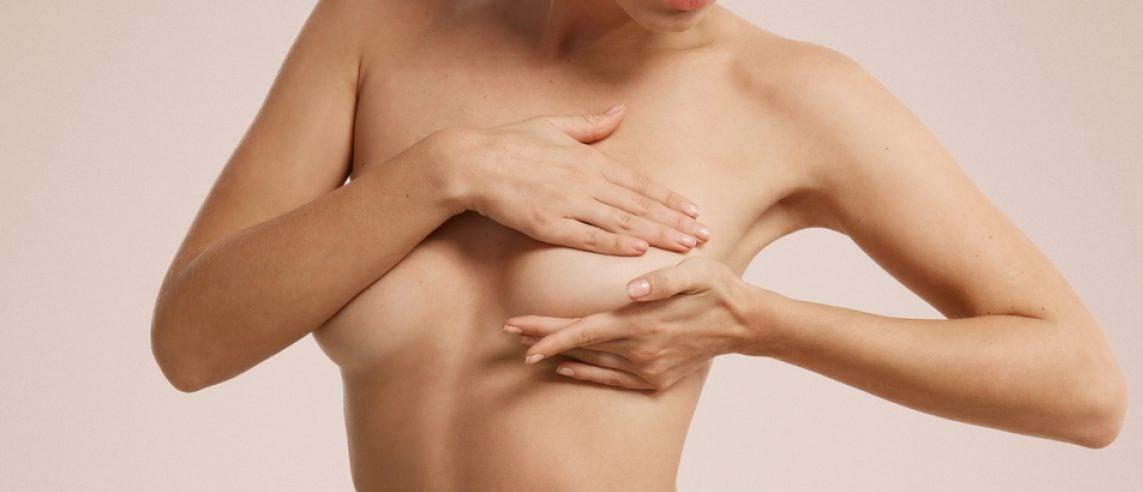 Breast cancer self check [Shutterstock - WAYHOME studio]