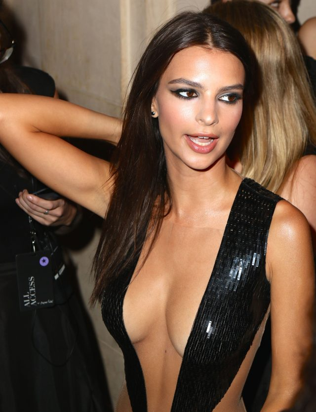 "Emily Ratajkowski arrive at Harper's Bazaar Celebrates ""ICONS By Carine Roitfeld"" at The Plaza Hotel in New York City (Photo credit: Splash News)"