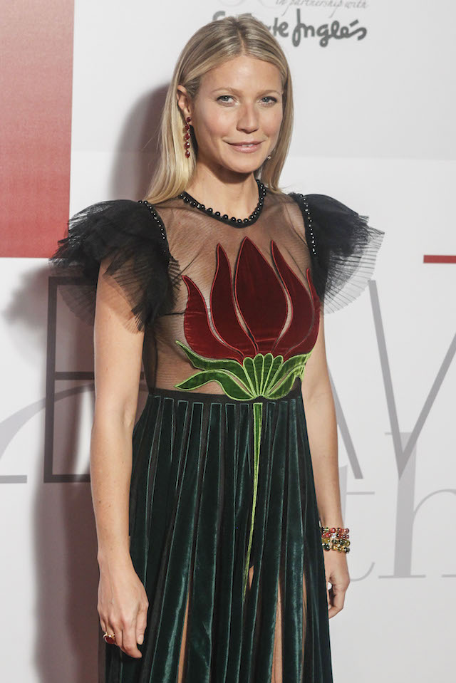 Celebrities arrive at the ELLE magazine 30th anniversary party held at El Circle de Bellas Artes in Madrid, Spain. Pictured: Gwyneth paltrow Ref: SPL1379141 271016 Picture by: Michael Murdock / Splash News Splash News and Pictures