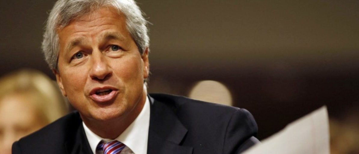 Jamie Dimon answers a question at the U.S. Senate Banking, Housing and Urban Affairs Committee hearing in Washington