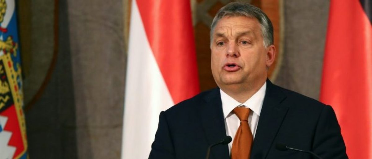 Hungarian Prime Minister Viktor Orban gives a speech during his visit at the Bavarian state parliament in Munich, Germany October 17, 2016. REUTERS/Michael Dalder