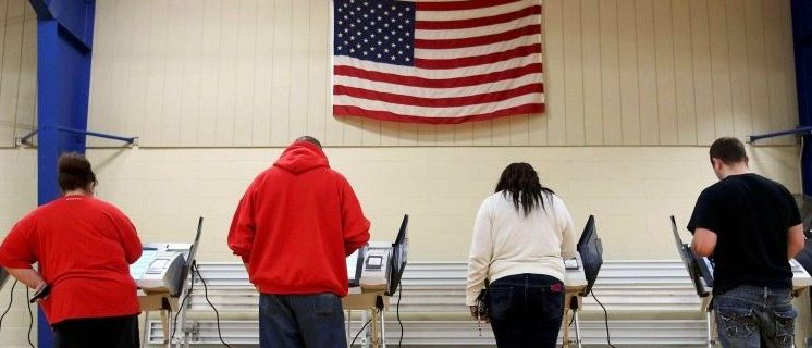 Voters cast their votes during the U.S. presidential election in Elyria, Ohio, U.S. November 8, 2016. REUTERS/Aaron Josefczyk/File Photo