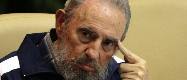 Former Cuban leader Fidel Castro attends the closing ceremony of the sixth Cuban Communist Party (PCC) congress in Havana April 19, 2011.  REUTERS/Desmond Boylan