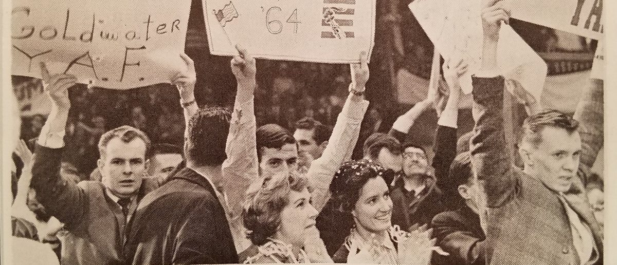 Young Americans for Freedom activists at a rally in Madison Square Garden, 1962. The New Guard magazine.