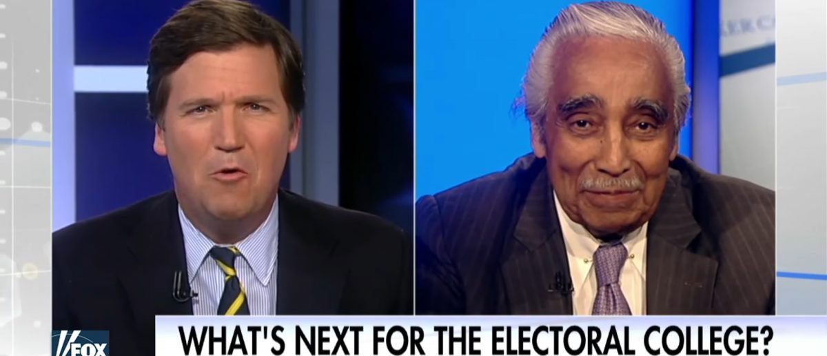 "Charlie Rangel on ""Tucker Carlson Tonight"" (Credit: YouTube screenshot)"