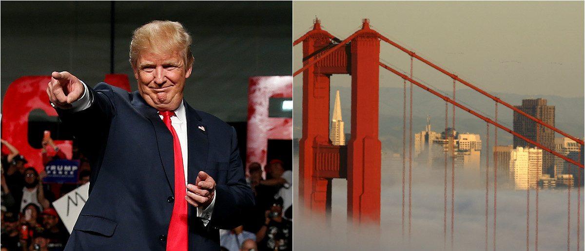Donald Trump: REUTERS/Carlo Allegri, San Francisco: REUTERS/Robert Galbraith