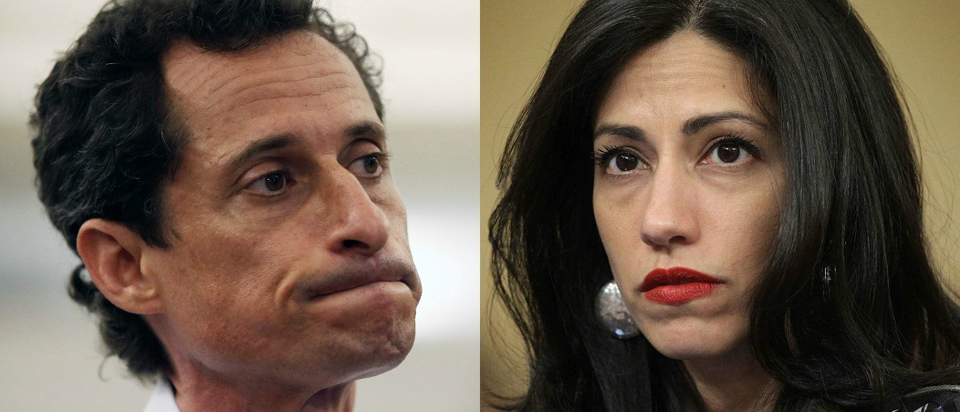 Huma Abedin and Anthony Weiner (Photos: Getty Images)