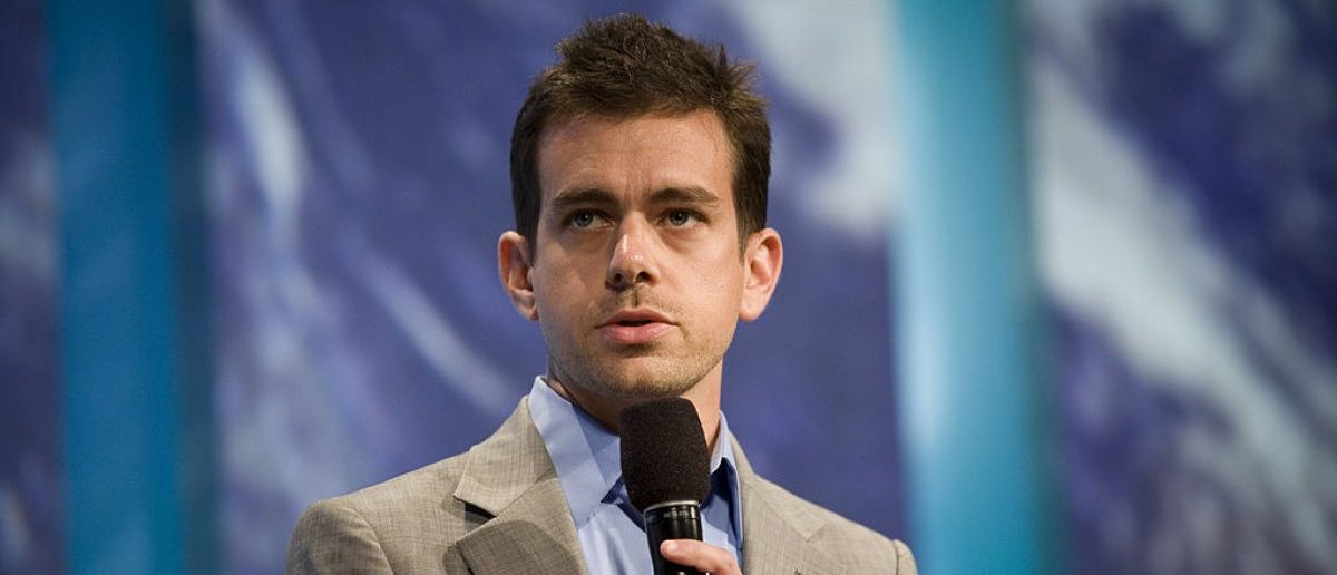 "NEW YORK, NY - SEPTEMBER 23: Jack Dorsey, the Co-Founder and Chairman of Twitter, talks during a panel called ""Enhancing Access to Modern Technology"" during the annual Clinton Global Initiative. (Photo by Brian Harkin/Getty Images)"