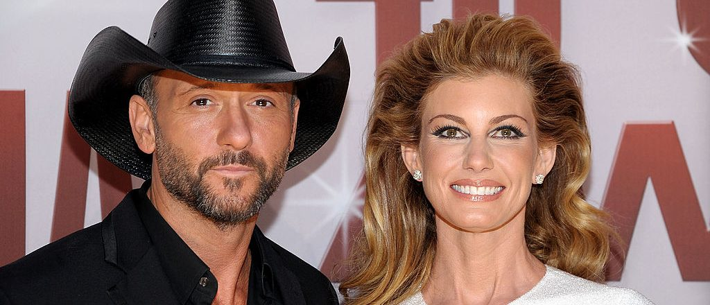 Tim McGraw and Faith Hill attend the 45th annual CMA Awards at the Bridgestone Arena on November 9, 2011 in Nashville, Tennessee