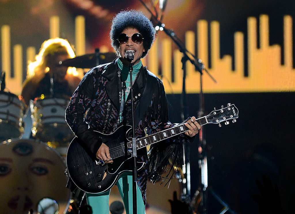 Prince performs during the 2013 Billboard Music Awards at the MGM Grand Garden Arena in Las Vegas, Nevada. (Photo by Ethan Miller/Getty Images)