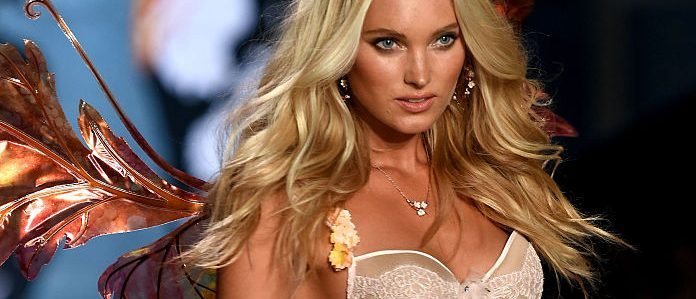 Model Elsa Hosk walks the runway during the 2014 Victoria's Secret Fashion Show at Earl's Court Exhibition Centre on December 2, 2014 in London. (Photo by Dimitrios Kambouris/Getty Images for Victoria's Secret)