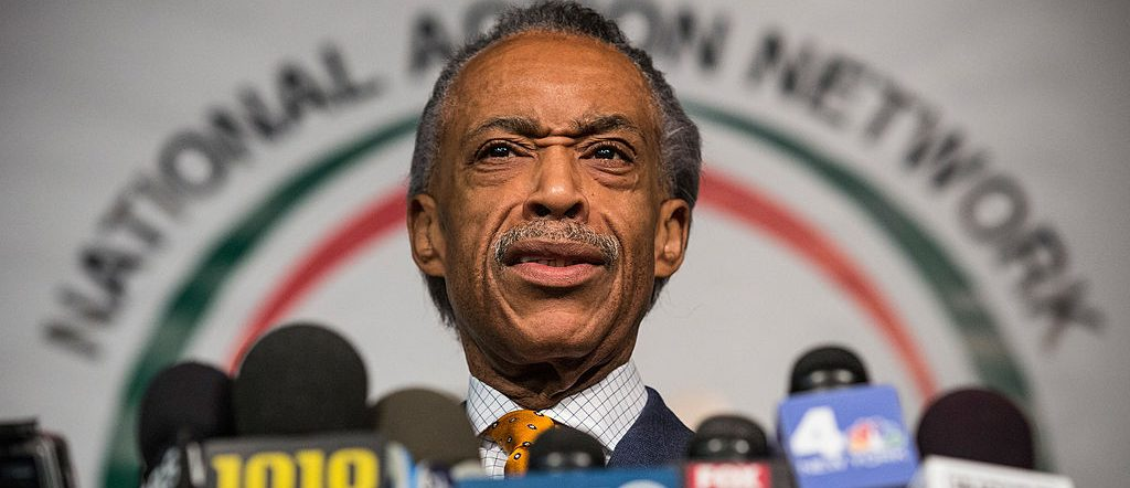 Rev. Al Sharpton speaks a press conference at the National Action Network's Office on April 8, 2014 in New York City. Sharpton spoke about alligations that he worked with the FBI as an informant on mob activities. (Photo by Andrew Burton/Getty Images)