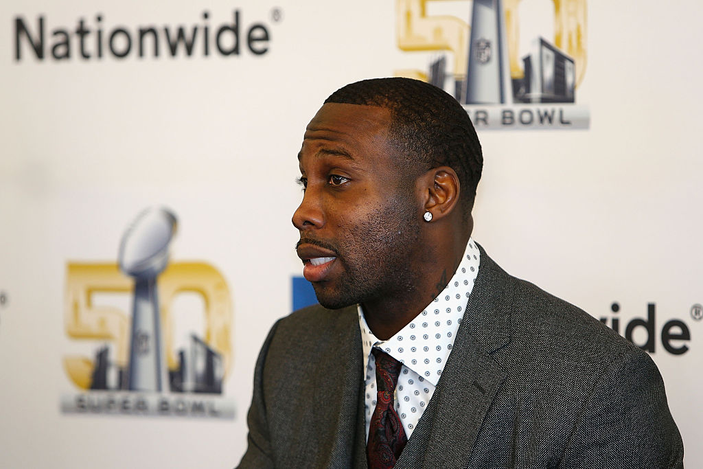 Walter Payton Man of the Year nominee Anquan Boldin of the San Francisco 49ers. (Photo by Lachlan Cunningham/Getty Images for Nationwide)