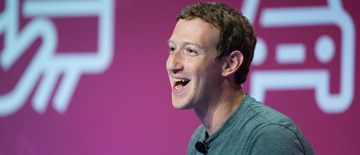 BARCELONA, SPAIN - FEBRUARY 22: Founder and CEO of Facebook Mark Zuckerberg delivers his keynote conference on the opening day of the World Mobile Congress at the Fira Gran Via Complex. (Photo by David Ramos/Getty Images)