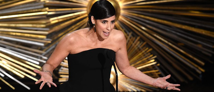 Actress Sarah Silverman speaks onstage during the 88th Annual Academy Awards at the Dolby Theatre on February 28, 2016 in Hollywood, California. (Photo by Kevin Winter/Getty Images)