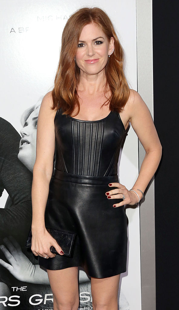 """Actress Isla Fisher attends the premiere of """"The Brothers Grimsby"""" at the Regency Village Theatre in Westwood, California. (Photo by Frederick M. Brown/Getty Images)"""