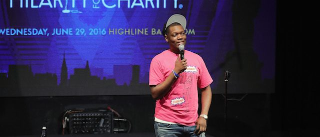 Michael Che performs onstage during HFC NYC presented by Hilarity for Charity at Highline Ballroom on June 29, 2016 in New York City. (Photo by Neilson Barnard/Getty Images for Hilarity For Charity)