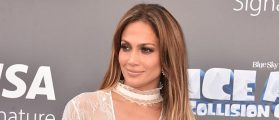 Jennifer Lopez Flashes A Lot Of Leg On The Red Carpet [SLIDESHOW]