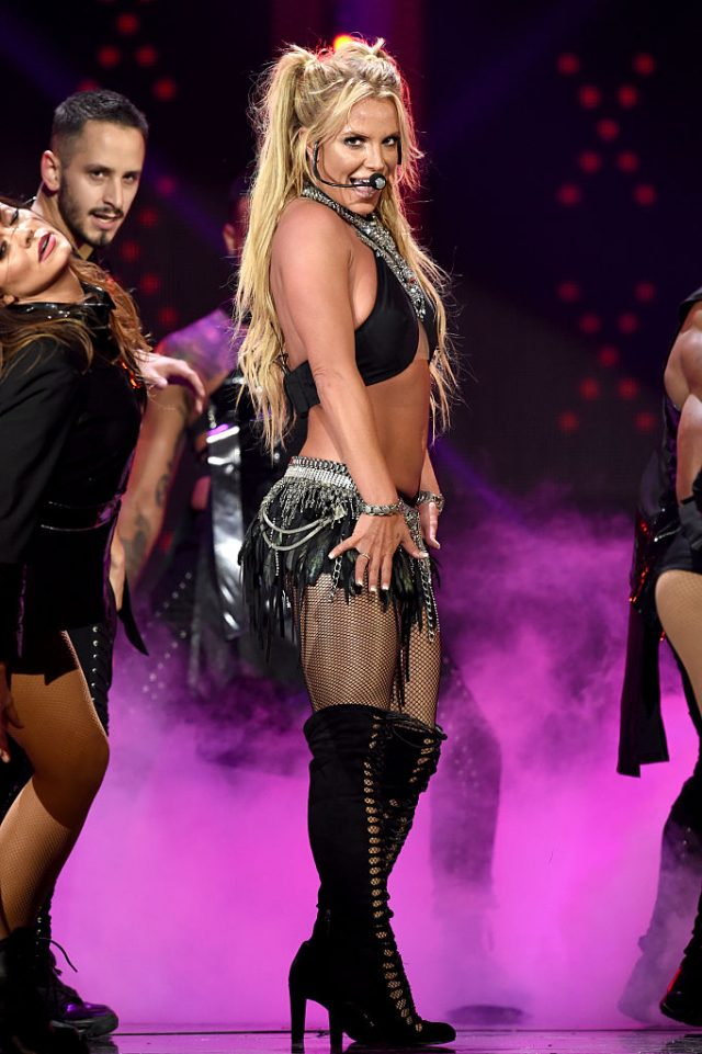 Singer Britney Spears performs onstage at the iHeartRadio Music Festival at T-Mobile Arena on September 24, 2016 in Las Vegas. (Photo by Kevin Winter/Getty Images)