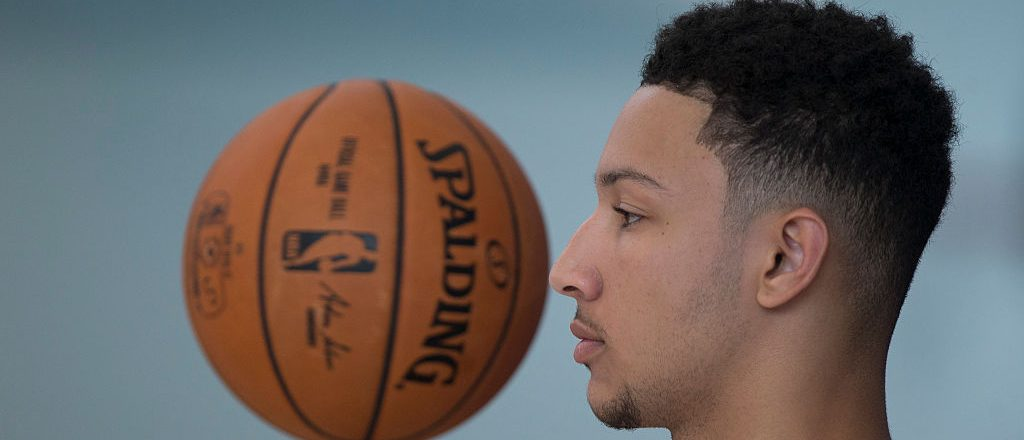 Ben Simmons #25 of the Philadelphia 76ers spins a basketball on his finger during media day on September 26, 2016 in Camden, New Jersey. NOTE TO USER: User expressly acknowledges and agrees that, by downloading and or using this photograph, User is consenting to the terms and conditions of the Getty Images License Agreement. (Photo by Mitchell Leff/Getty Images)