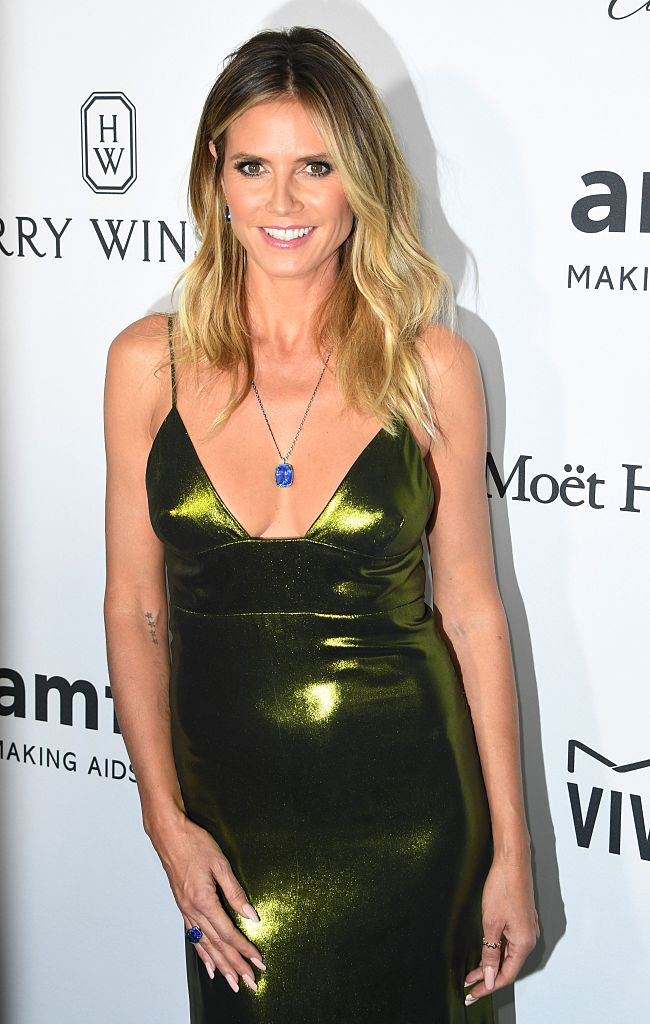 Heidi Klum arrives for amfAR's Inspiration Gala Los Angeles (Photo credit: MARK RALSTON/AFP/Getty Images)