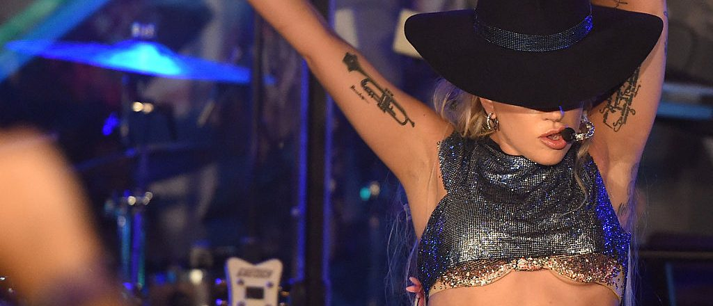 Lady Gaga surprises fans while on the Bud Light x Lady Gaga Dive Bar Tour where the singer performed three new tracks off her upcoming album 'Joanne' on October 27, 2016 in Los Angeles, California. (Photo credit: Getty Images)