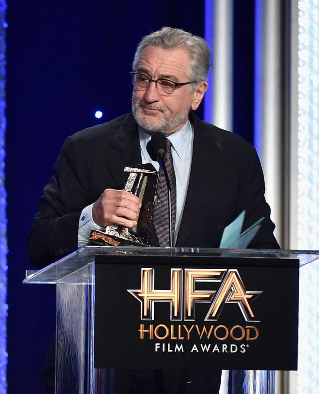Actor Robert De Niro, recipient of the Hollywood Comedy Award' for 'The Comedian', speaks onstage during the 20th Annual Hollywood Film Awards on November 6, 2016 in Beverly Hills, California. (Photo by Alberto E. Rodriguez/Getty Images)