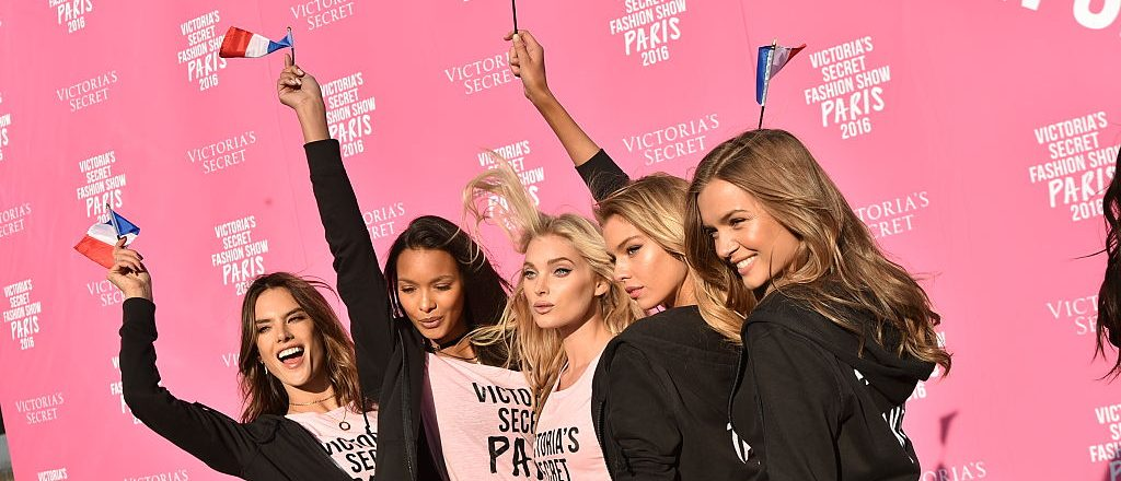 (L-R) Victoria's Secret models Alessandra Ambrosio, Lais Ribeiro, Elsa Hosk, and Josephine Skriver depart for Paris for the 2016 Victoria's Secret Fashion Show on November 27, 2016 in New York City. (Photo by Mike Coppola/Getty Images for Victoria's Secret)