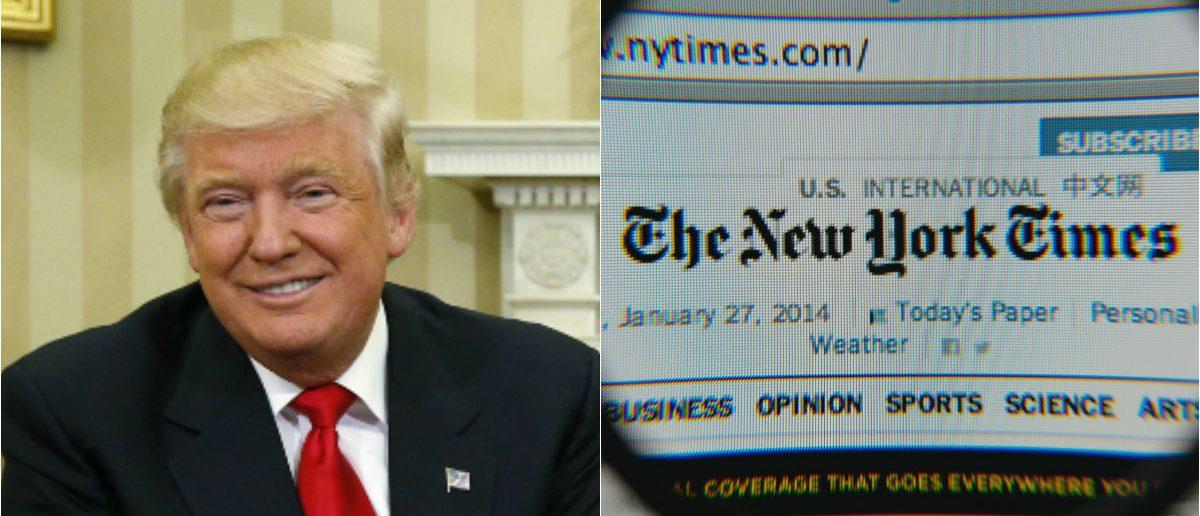 President-elect Donald Trump: REUTERS/Kevin Lamarque, NYTimes Website: Shutterstock.com/Gil C