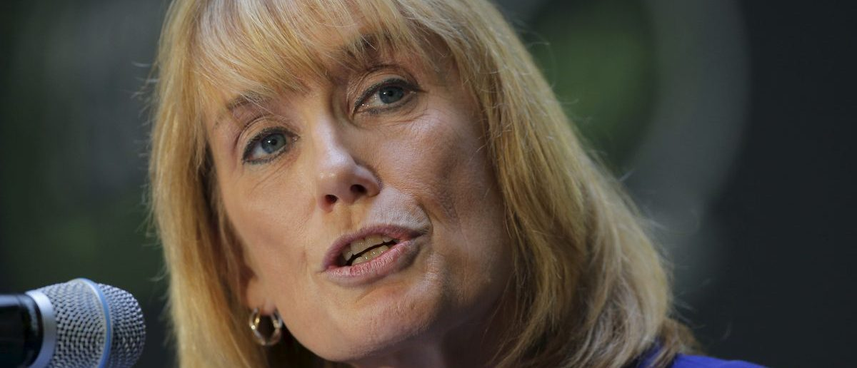 New Hampshire Governor Maggie Hassan speaks at the No Labels Problem Solver Convention in Manchester, New Hampshire October 12, 2015. REUTERS/Brian Snyder