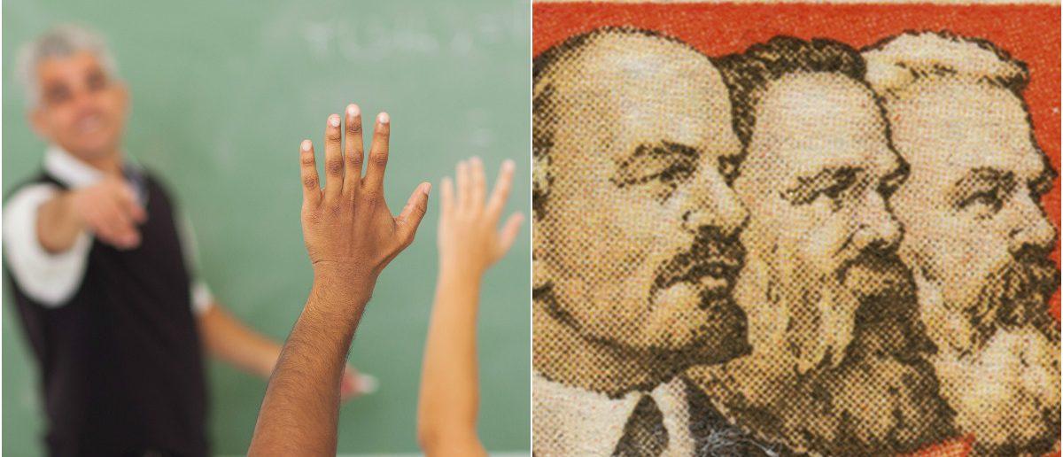 School Classroom: Michaeljung/shutterstock.com, Soviet Comrades: Natsmith1/shutterstock.com