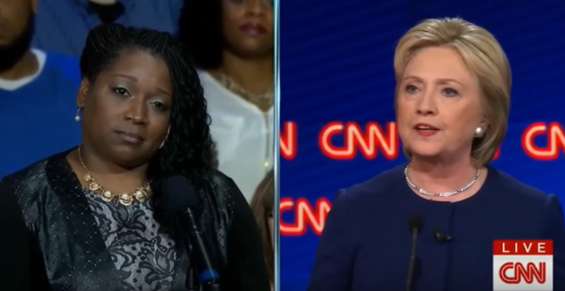 Flint, Mich. resident Mikki Ward at March 6, 2016 Democratic debate hosted by CNN. (Youtube screen grab)