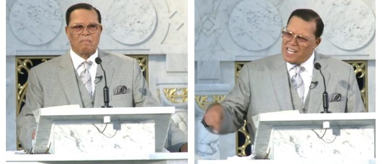 Louis Farrakhan (screenshots: Nation of Islam webcast)