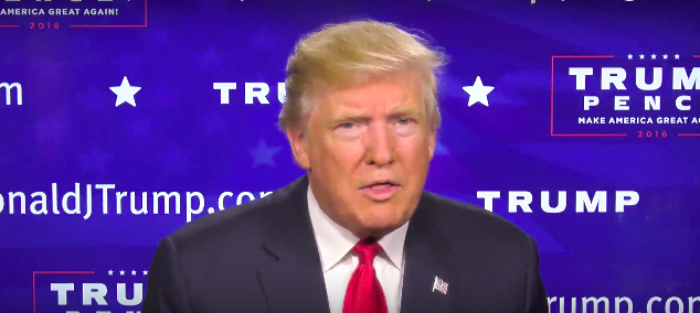 Donald Trump, screen capture from YouTube