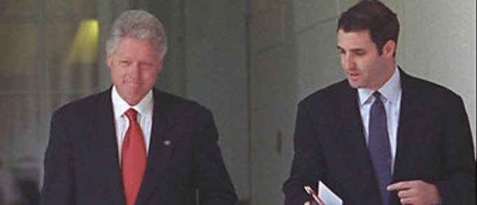 Bill Clinton and longtime aide, Doug Band. (The White House)