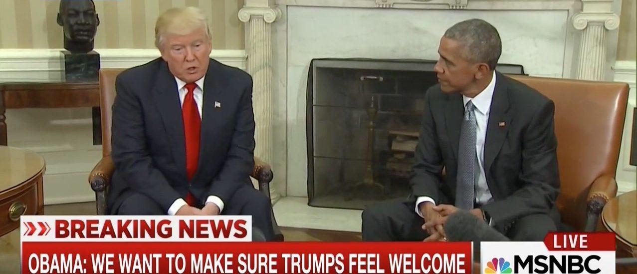 Donald Trump, Barack Obama (MSNBC)